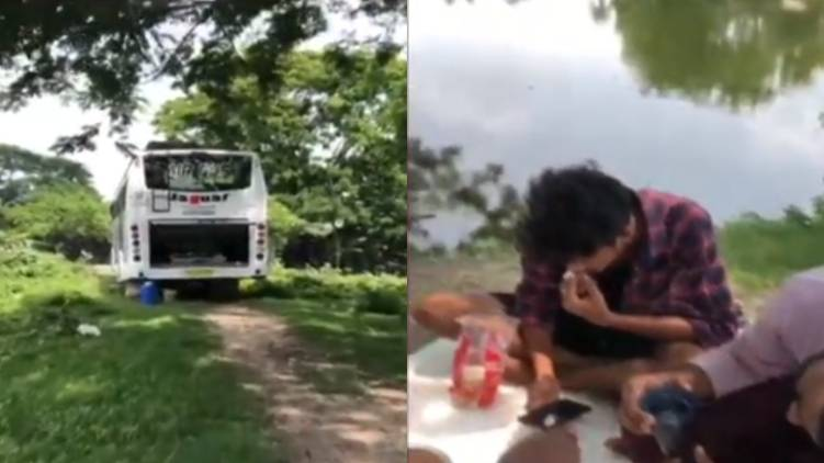 kerala buses stucked in assam