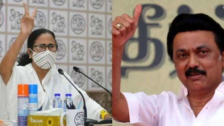 TMC leads in Bengal, DMK in TN