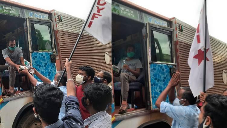 dyfi and p prasad distribute food packets