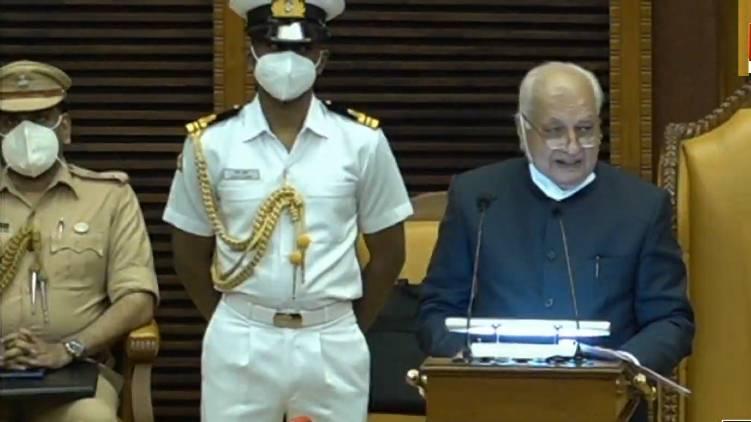kerala governor policy speech begun