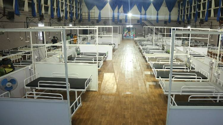 indias biggest oxygen bed covid treatment center in ernakulam