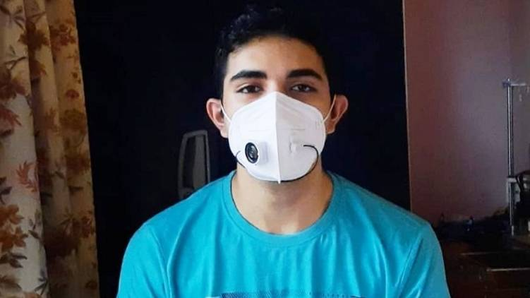 thrissur students invents mask with mic and speaker
