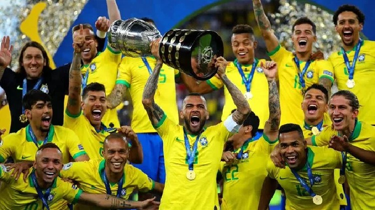 Brazil players Copa America