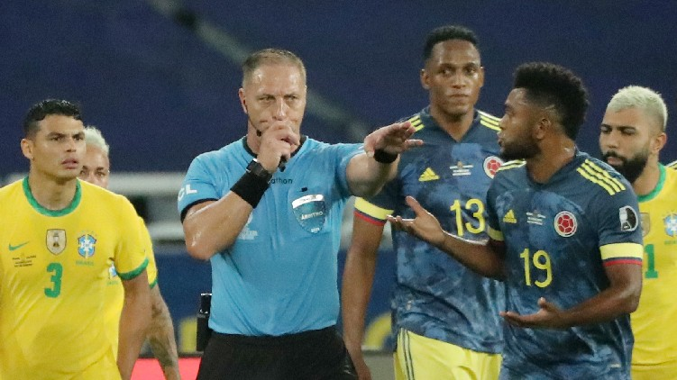 Colombia referee axed goal