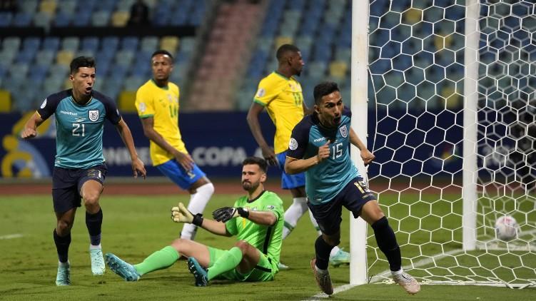 brazil drew with Ecuador