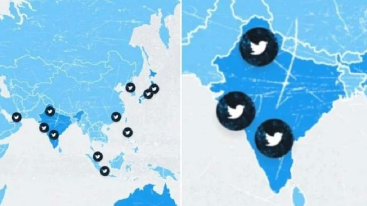 twitter indian map