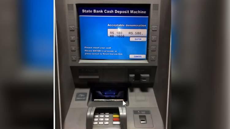 sbi cash deposit machine