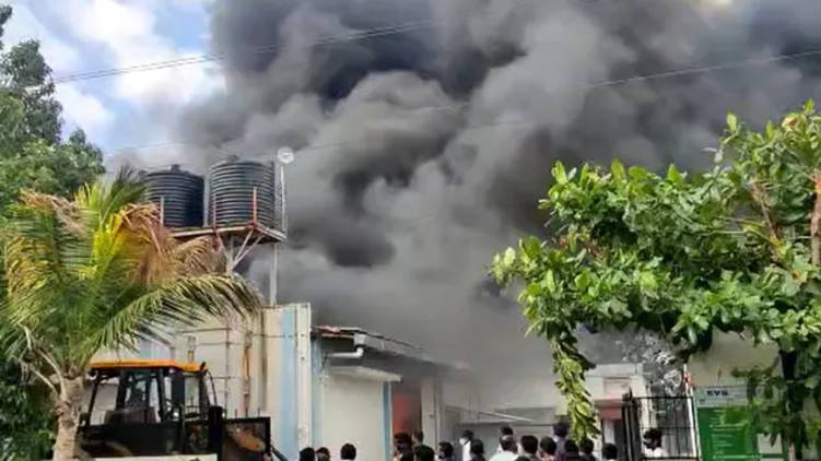pune fire in sanitizer plant claims 17 lives