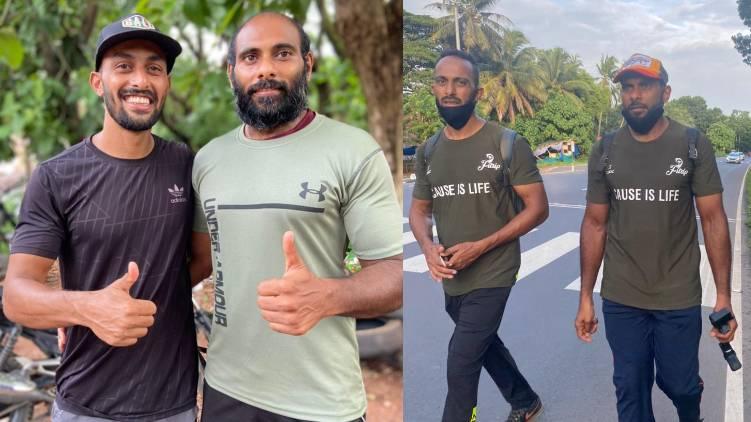 two men run from kasargod to kanyakumari for fundraiser