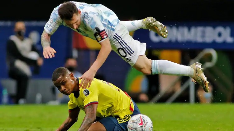 colombia yellow cards argentina