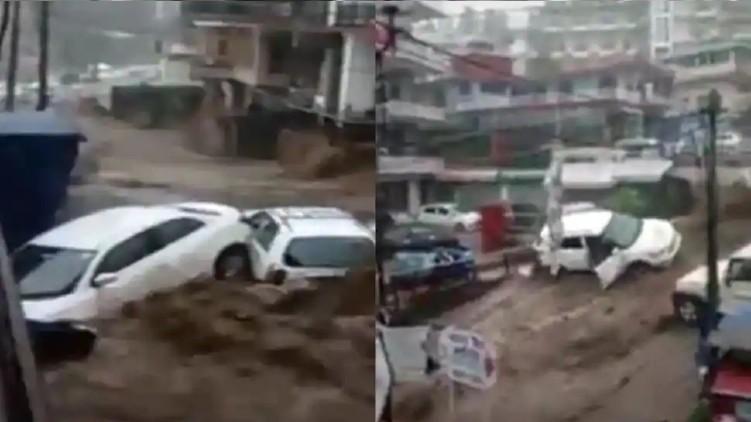 Heavy rains flood Dharamshala