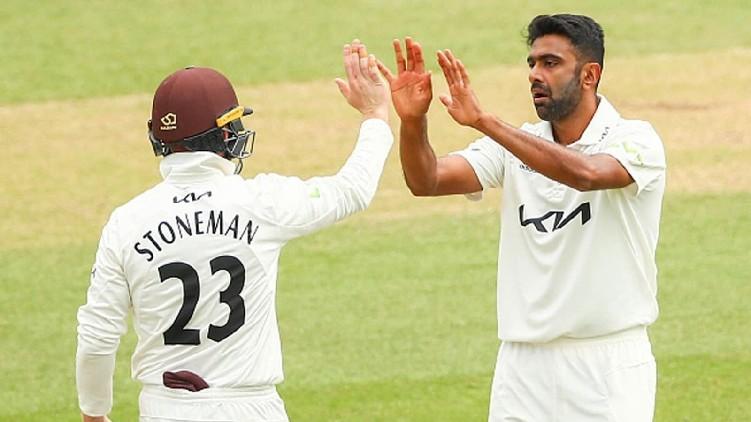Ashwin six wicket County