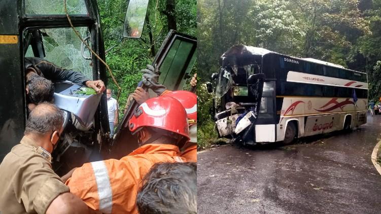 karnataka rtc bus accident