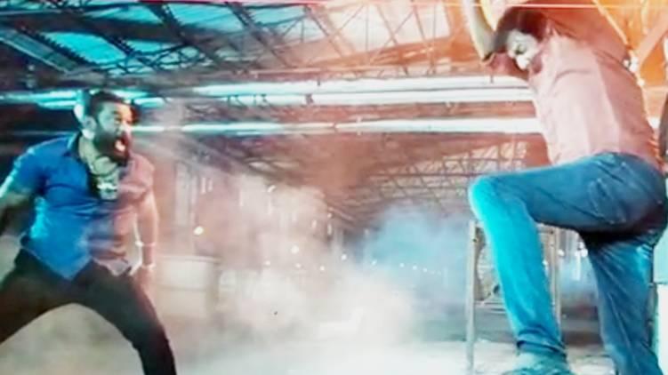 Fight scene with Baburaj Actor Vishal injured