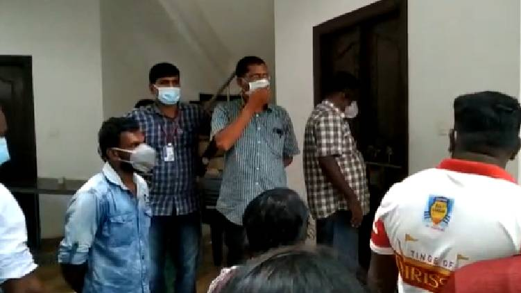 Health workers detained