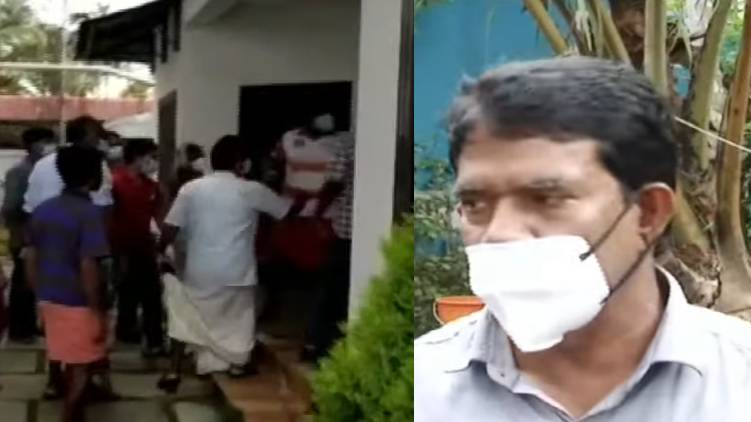 aggression against health workers Panchayat President expresses regret alappuzha