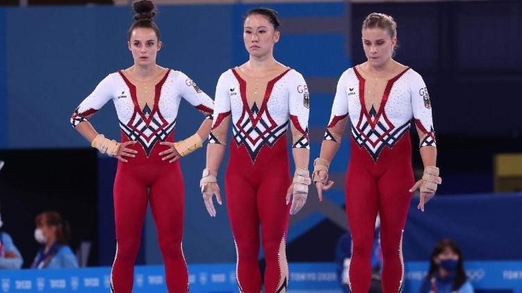 Gymnastics team wears unitards