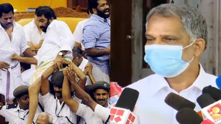 cpim, Kerala assembly ruckus