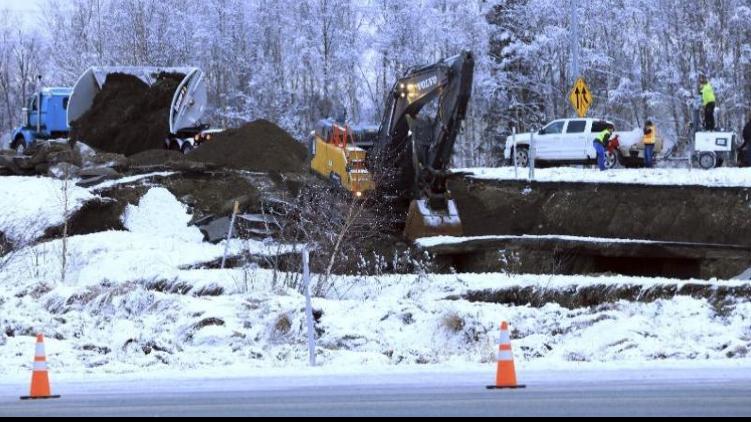 Earthquake Strikes Alaskan