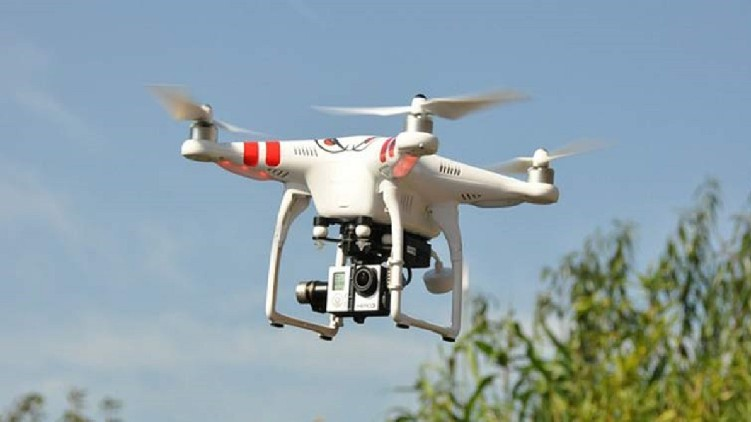drone flew over naval base