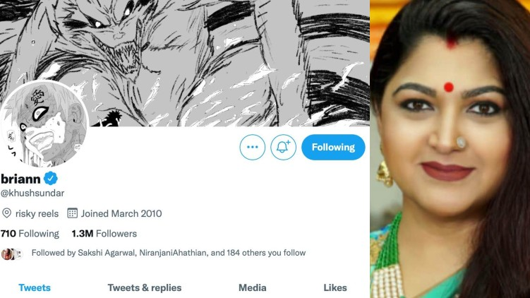Khushbu's twitter hacked