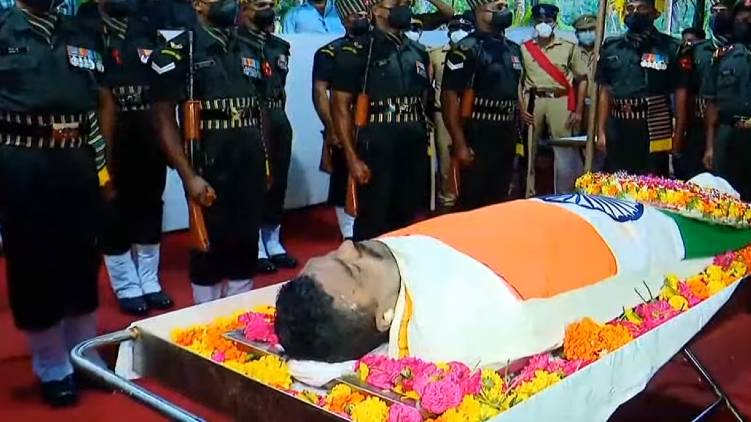 martyr m sreejith cremation