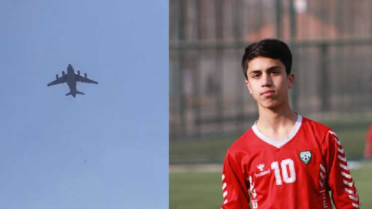 zaki anwar afghan footballer dies of plane accident kabul-taliban