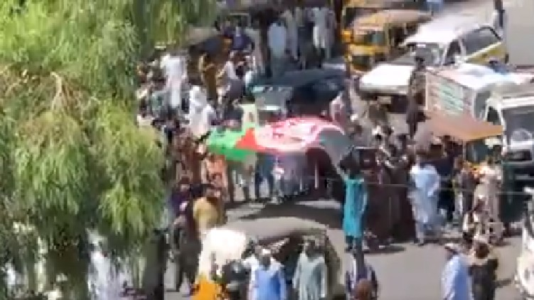 Taliban fire protesters Afghanistan