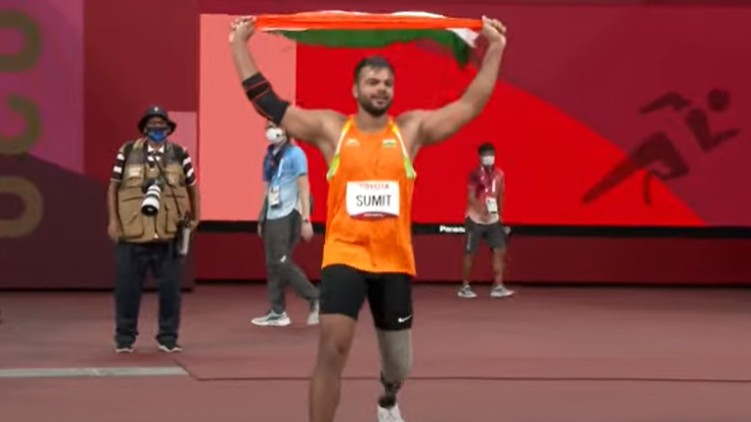 Paralympics Sumit Antil gold