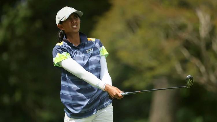 aditi ashok second round golf