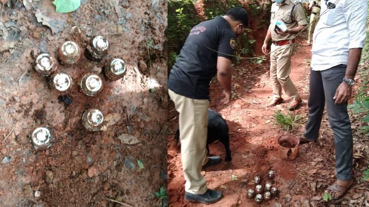 steel bomb found in nadapuram