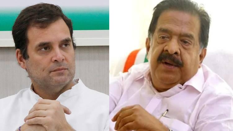 rahul gandhi against chennithala