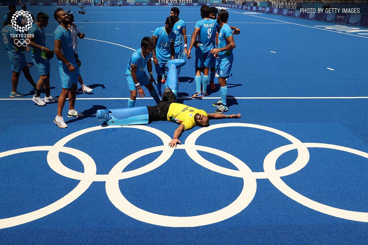 pr sreejesh olympic medal