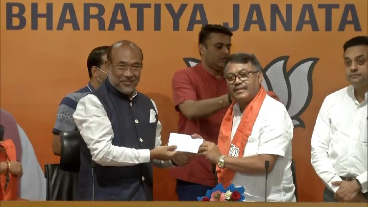 Govindas Konthoujam joins BJP
