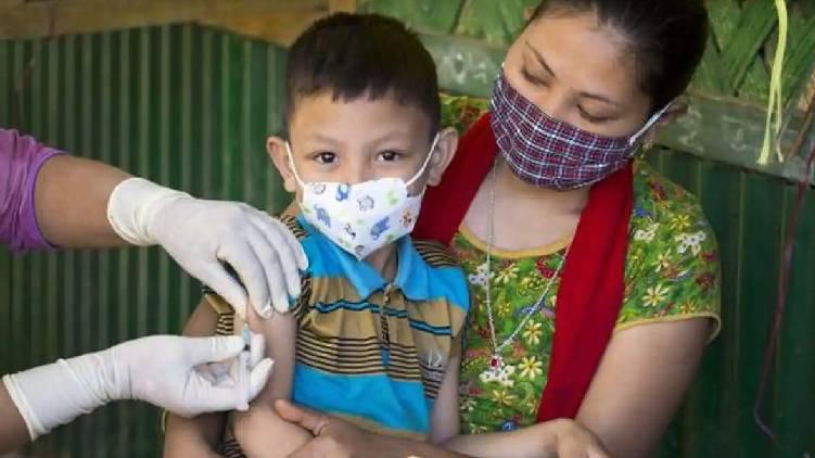 india children vaccination delay