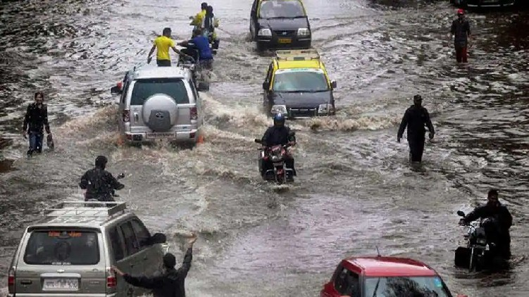 Heavy rainfall in North India