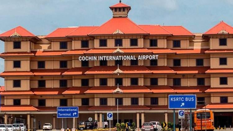 protest cochin airport