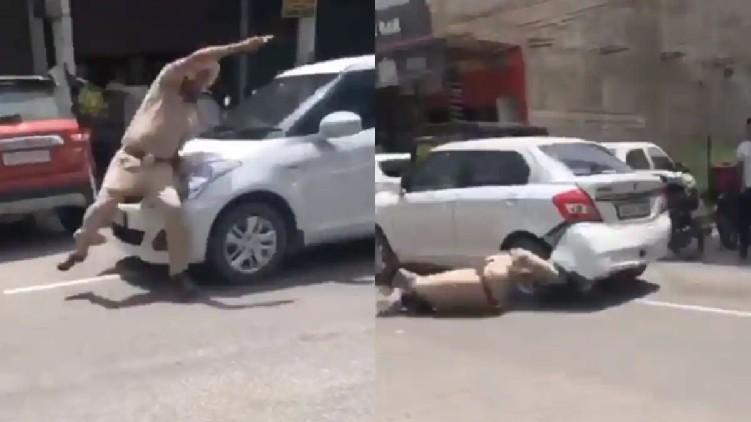 Punjab cop dragged by car