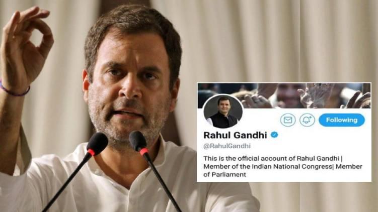 rahul gandhi twitter restored