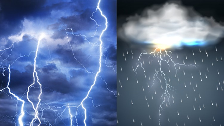 rain with lightning