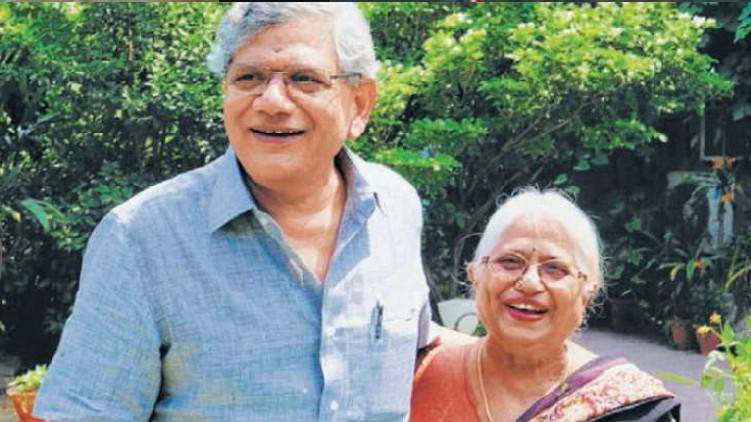 sitaram yechuri's mother passes away