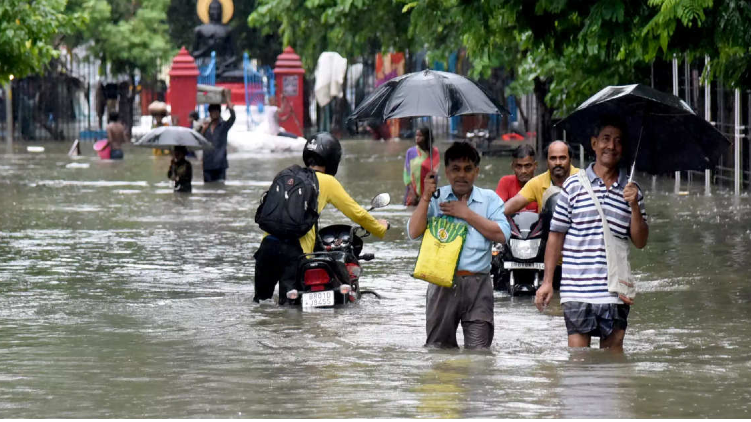 Heavy rainfall in Country
