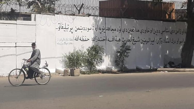 Murals Kabul slogans Taliban