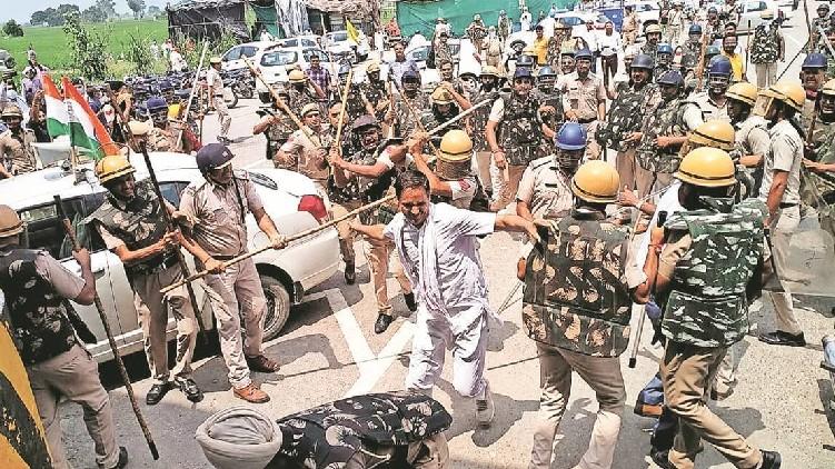 Haryana Karnal lathicharge incident