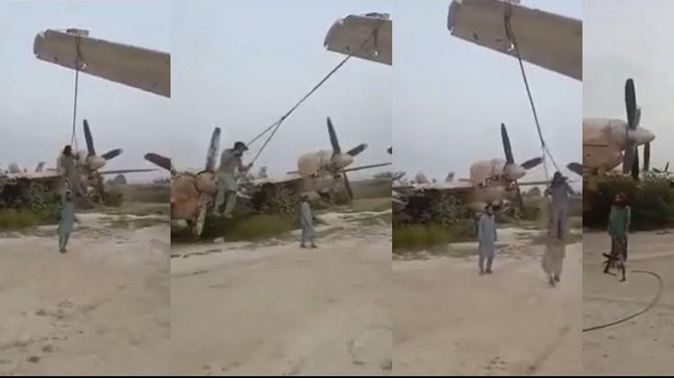 Taliban turned planes swings