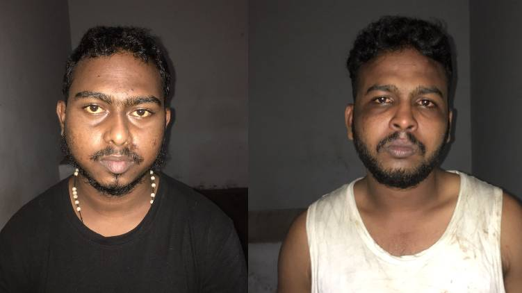 two arrested health worker attack