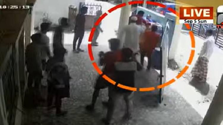 woman attacked by neighbours tvm