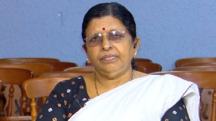 P Sathidevi against sexist comment