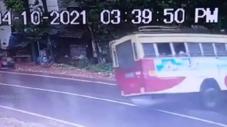ksrtc bus accident cctv visual