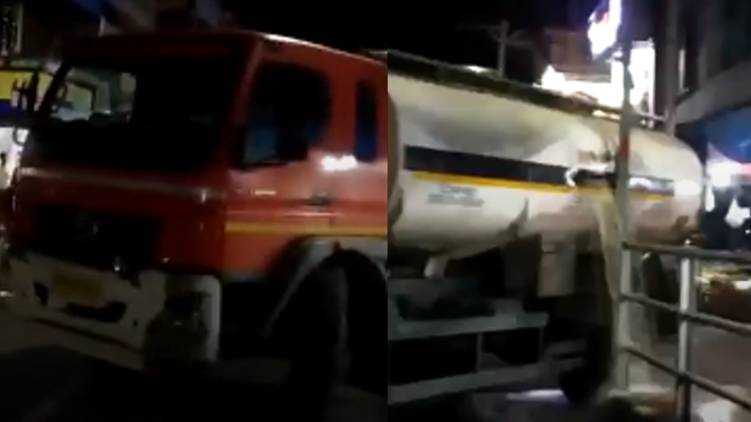 tanker lorry accident tanur
